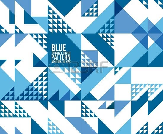 geometric blue triangle pattern