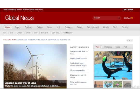 global news portal css3 template