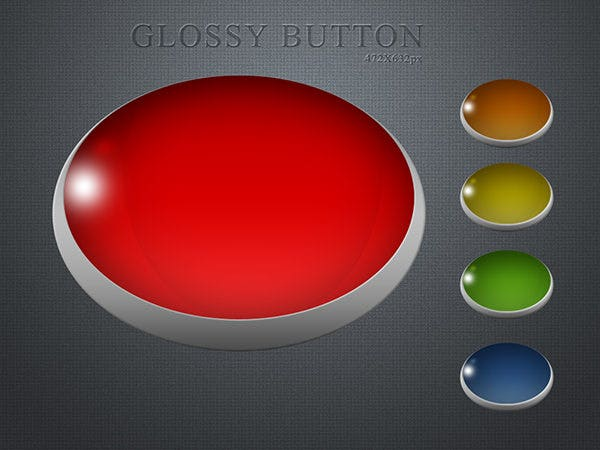 glossy button0