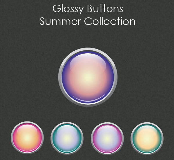 glossy buttons summer collection