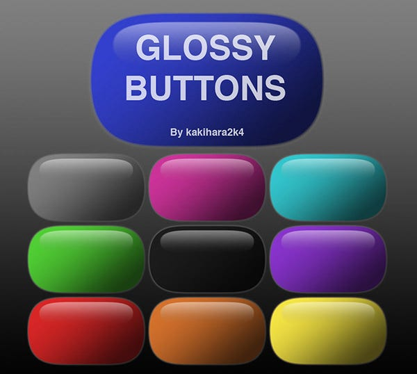 glossy buttons1