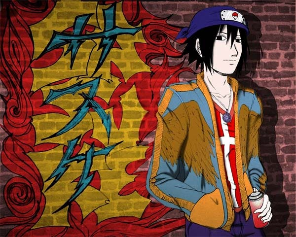 graffiti sasuke1