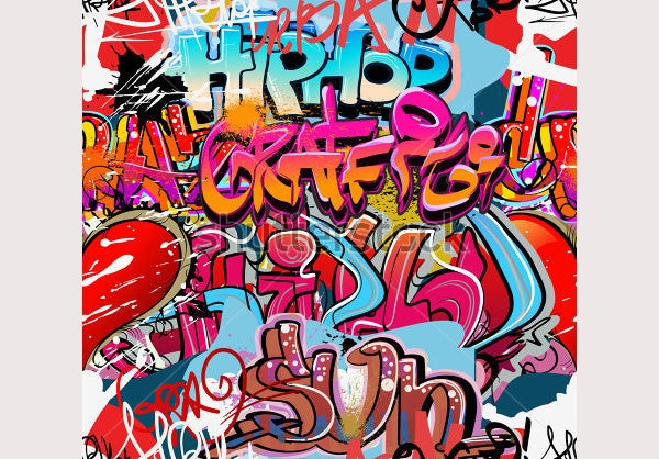 Graffiti Wall Urban Hip Hop Background