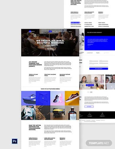 graphic design website template
