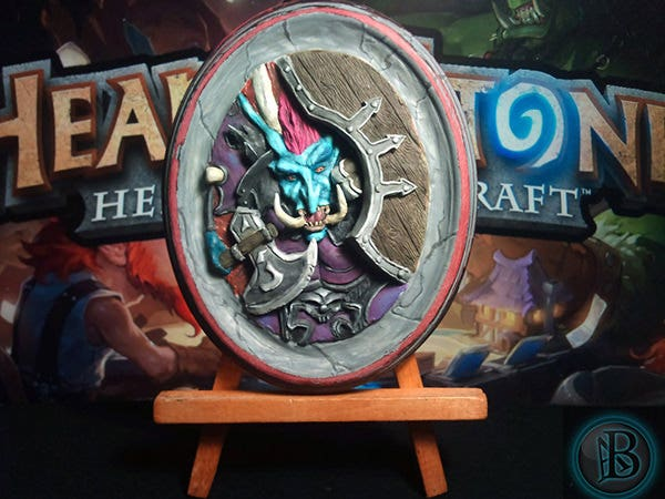 hearthstone 3d card sculpture