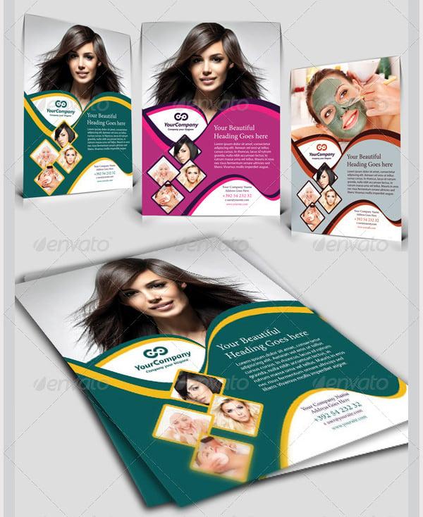 hair beauty salon business flyer vol