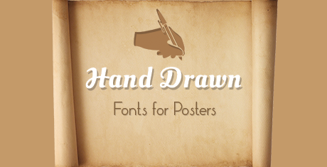 hand drawn fonts for posters