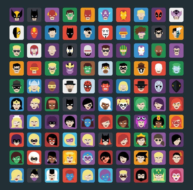 hero icons vol1