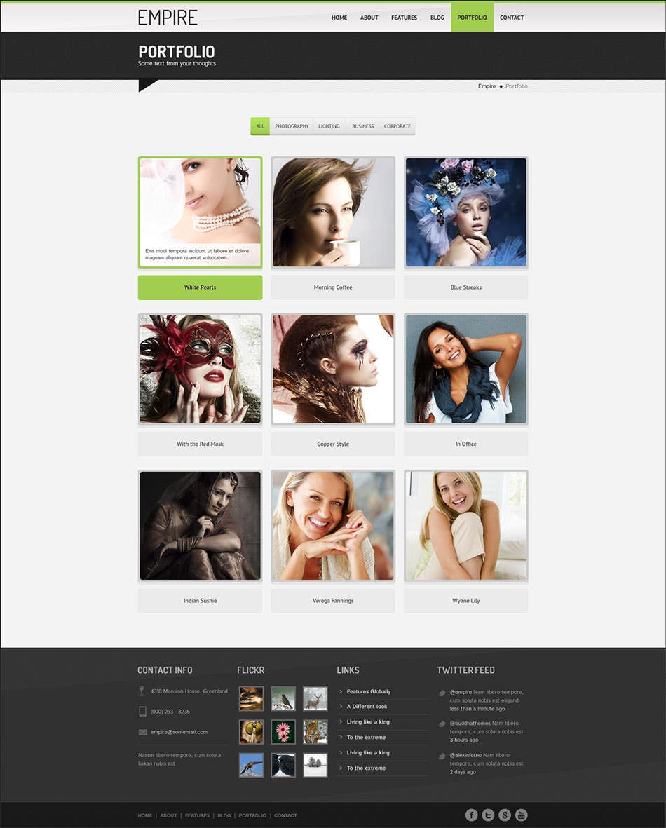 high quality multipurpose psd template