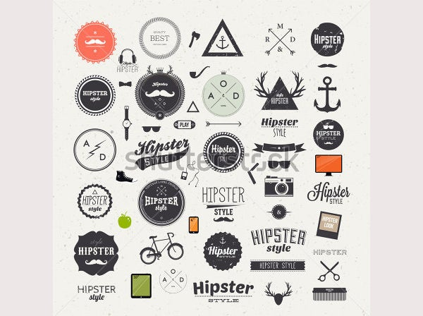 Hipster Style Infographic Elements