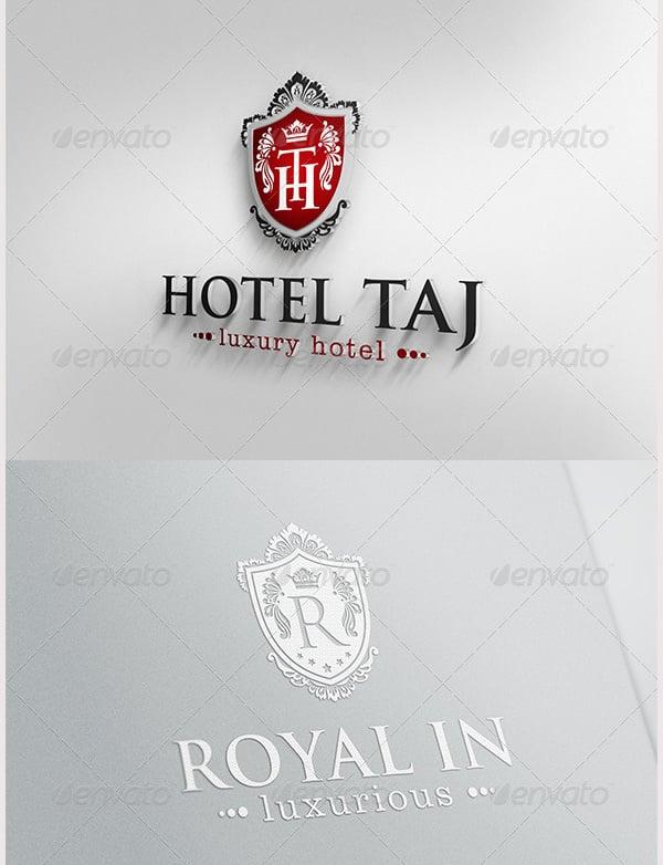 Hotel Taj- Luxury Crest Logo