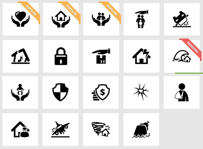 insurance flat ui icon