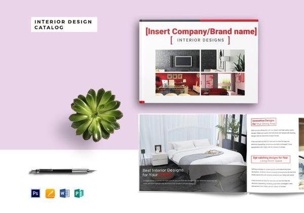 Interior design brochure 15 free psd eps indesign for Free interior design catalogs