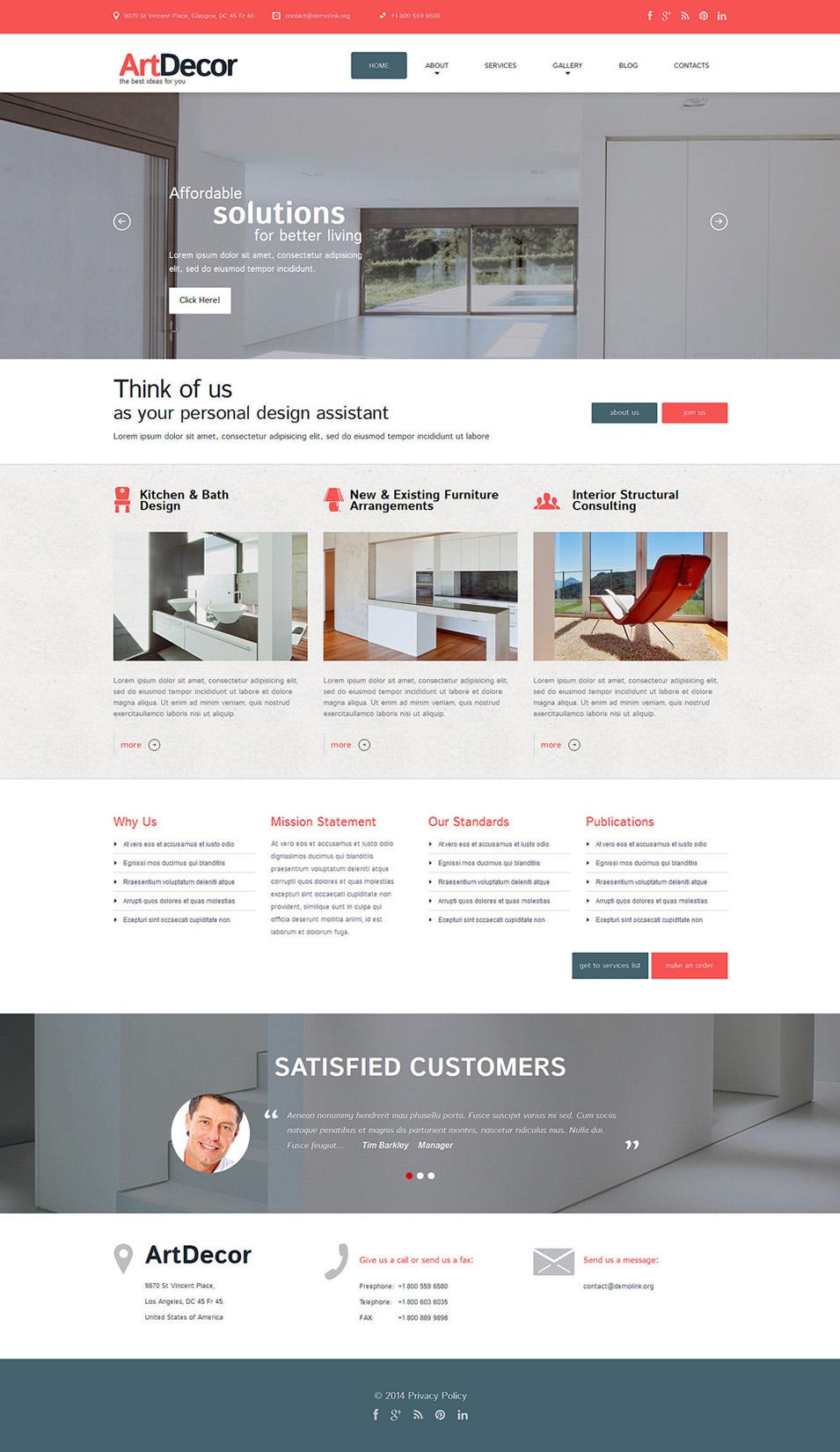 25 best premium jquery portfolio templates for download free premium templates for Interior design wordpress theme
