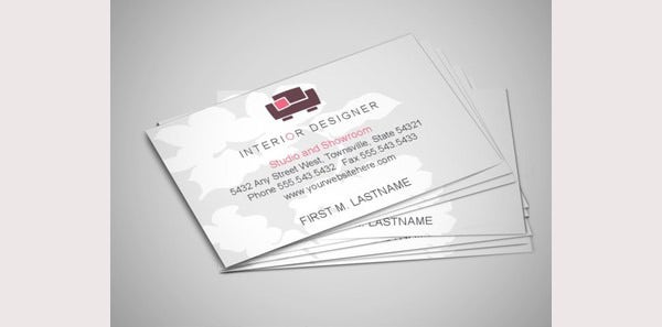 75 business card templates for designer in ai ms word - Business name for interior design company ...