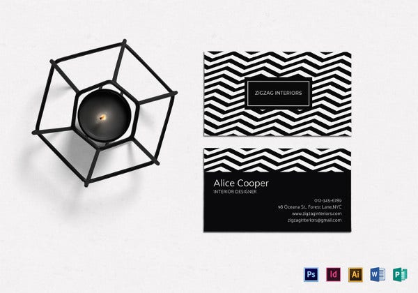 business cards interior design. Interior Designer Business Card Template Cards Design