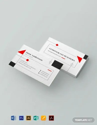 interior designer business card template2