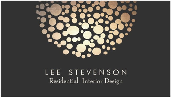 interior designer lighting black modern business cards