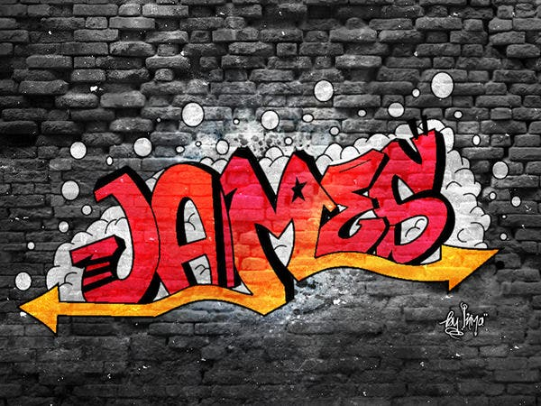 james graffiti