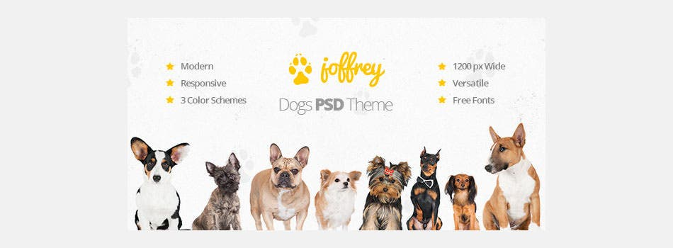 joffrey a psd theme for dog lovers