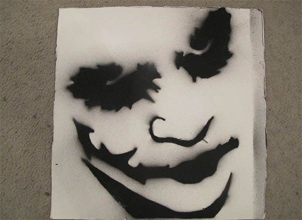 joker spray paint stencil