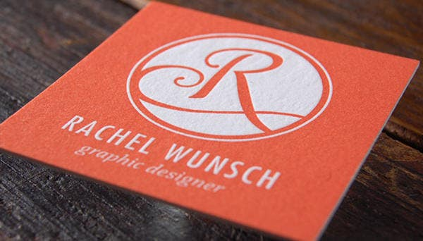 Letterpress Business Cards for Rachel Wunsch