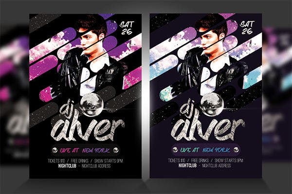 live dj flyer template