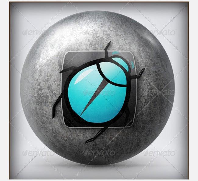 logo on sphere psd logo mockup template