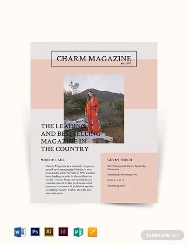 magazine flyer template