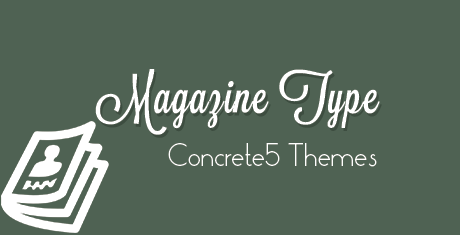 magazine type concrete5 themes