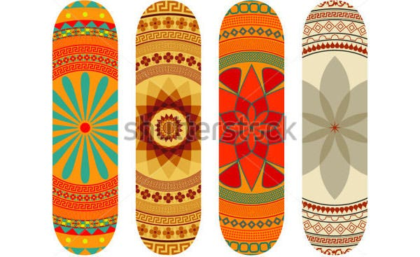 mandala style skateboard design