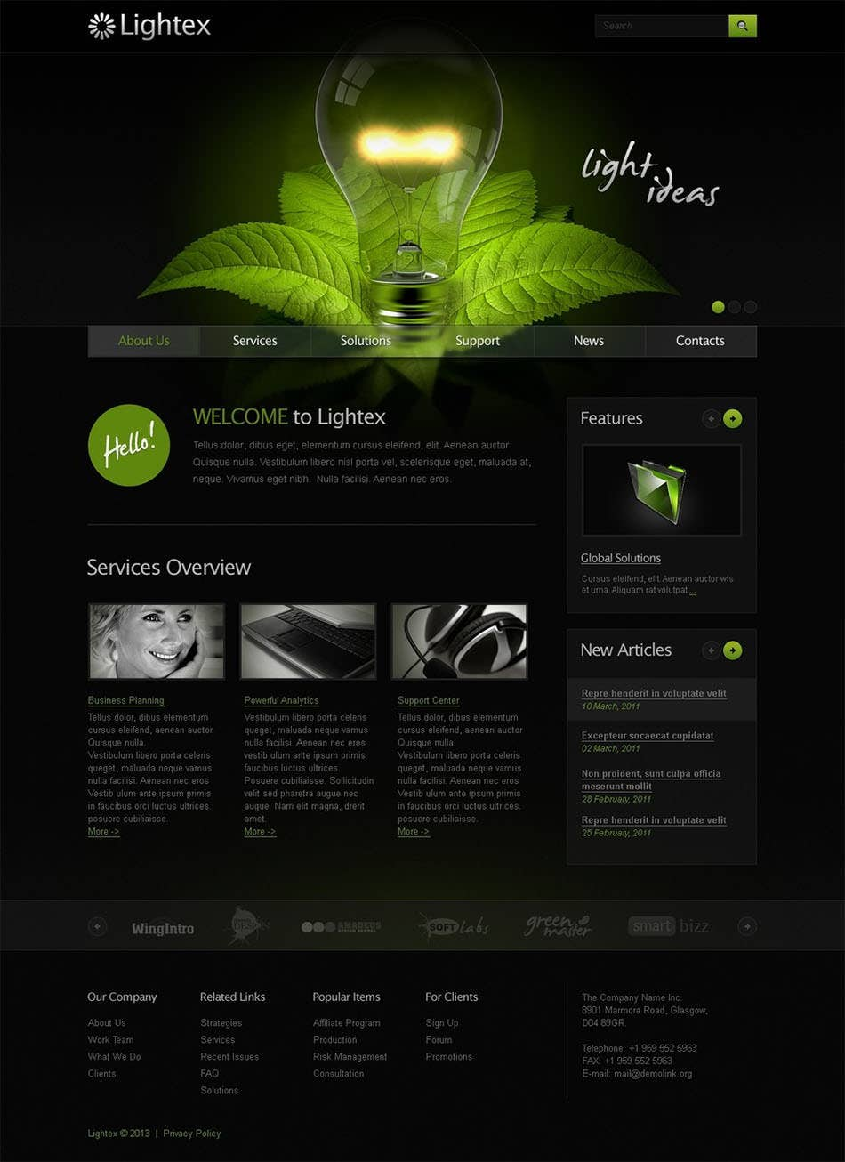 marketing agency psd template