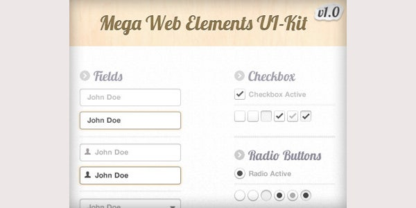 Mega Web Elements UI Kit