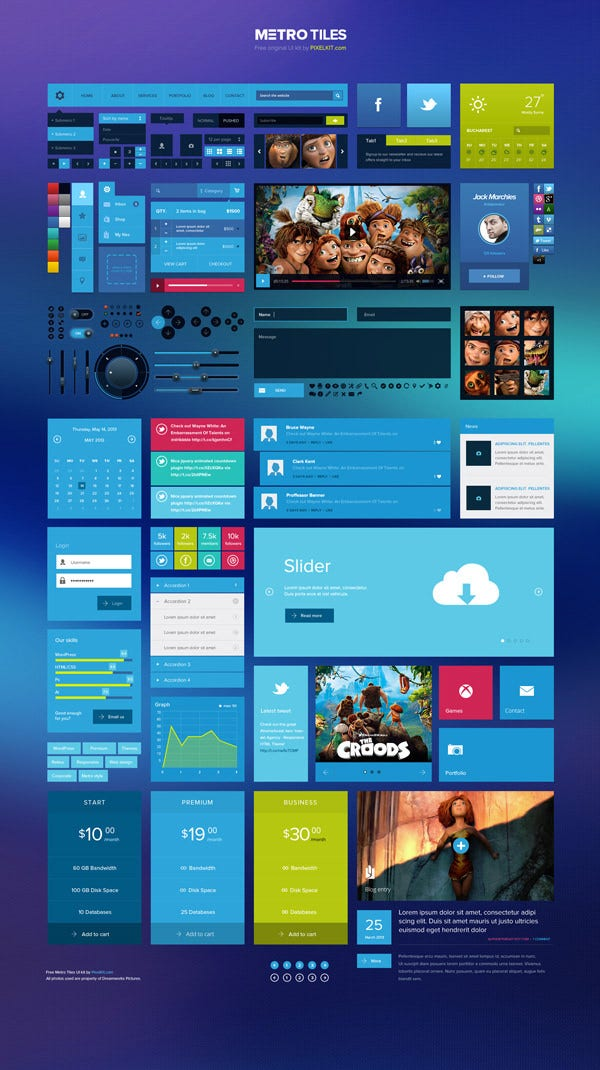 60 best user interface elements for download free premium templates