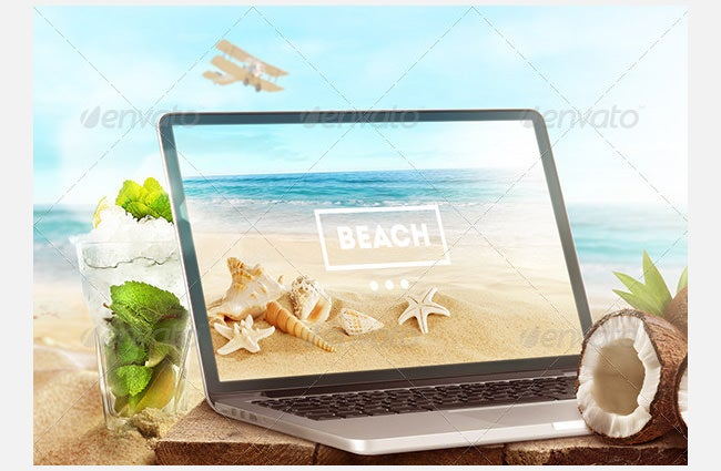 mock up laptop and tablet psd