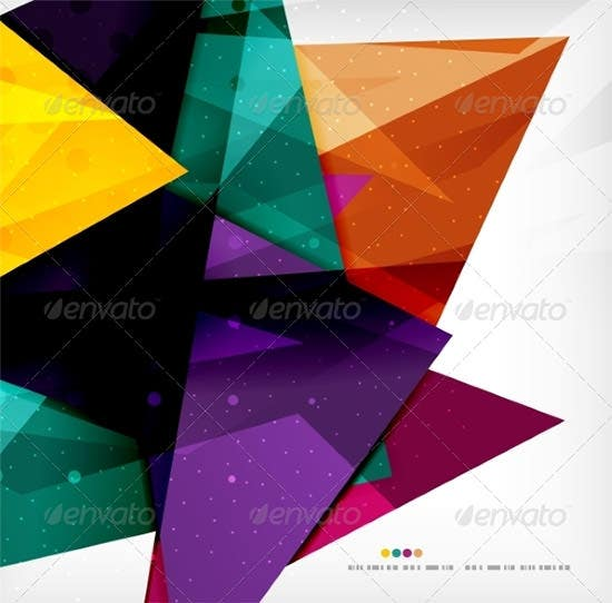 modern 3d glossy overlapping triangles