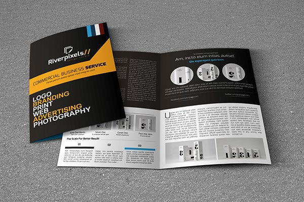 Modern A4 Bi-Fold Brochure Template