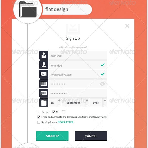 modern flat ui elements for web