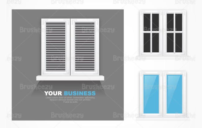 modern window psd pack