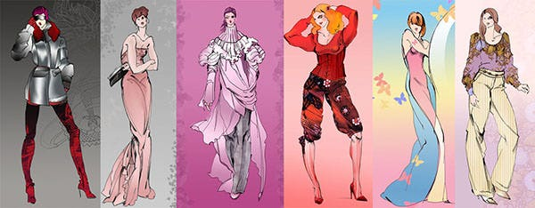 more fashion sketches