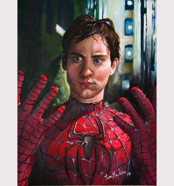 Oil Paint: Spiderman