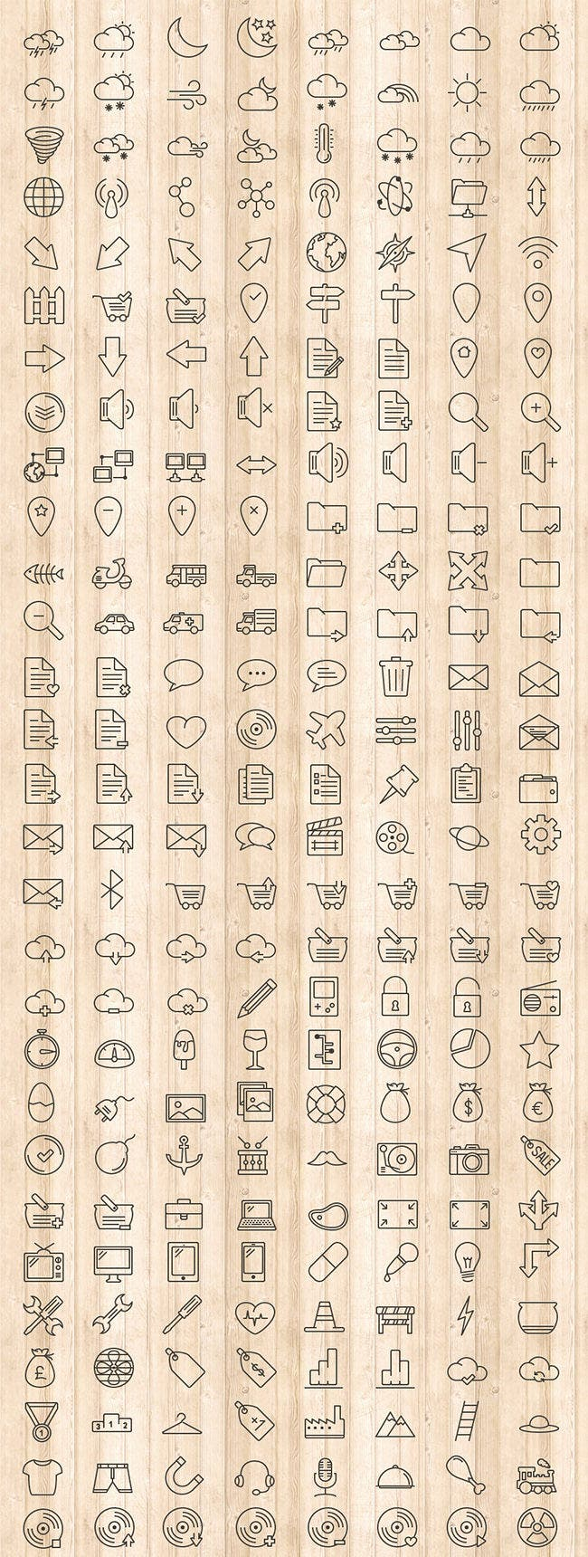 outline ui icons pack