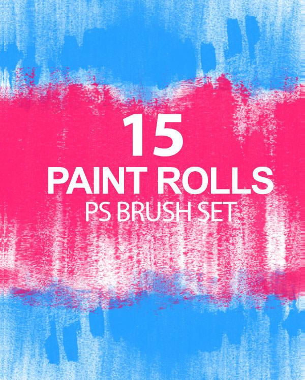 paint rolls photoshop brush set