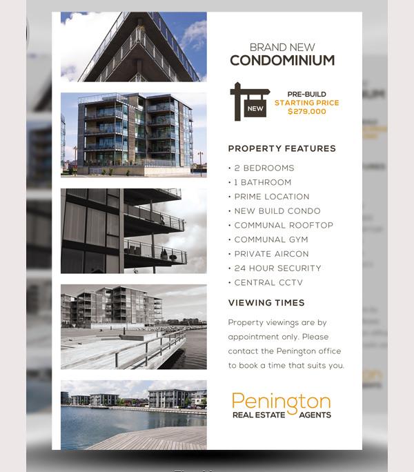 Penington Real Estate PSD Flyer Template
