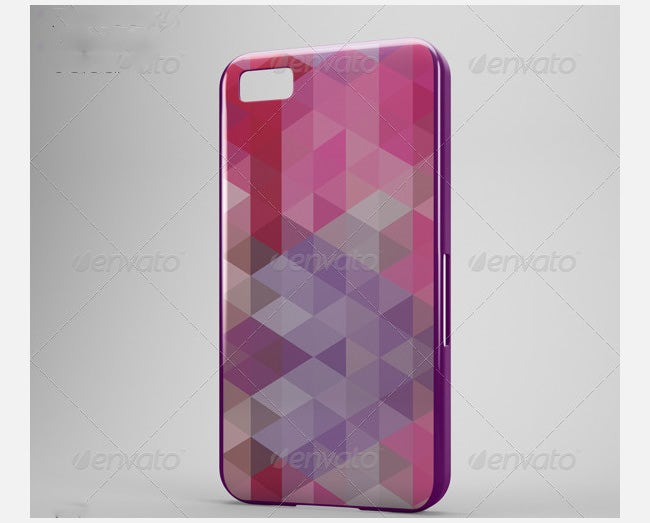 phone case mock up bb z10