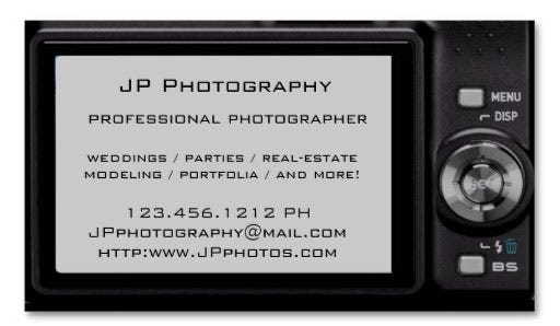 photographer business card 4