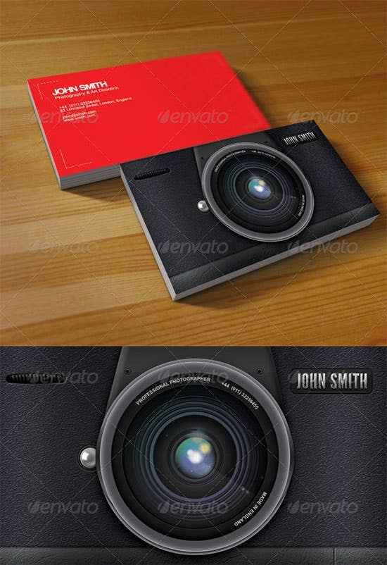 40+ Premium Business Card Templates for Professional Photographers ...