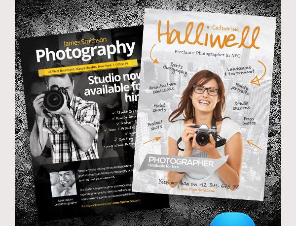 Photography Flyer Templates Set 3