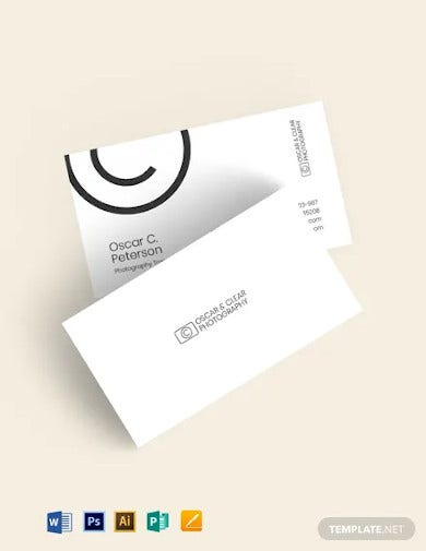 photography trainer business card template