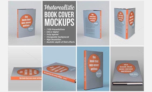 School Book Cover Creator : Book cover design template psd illustration